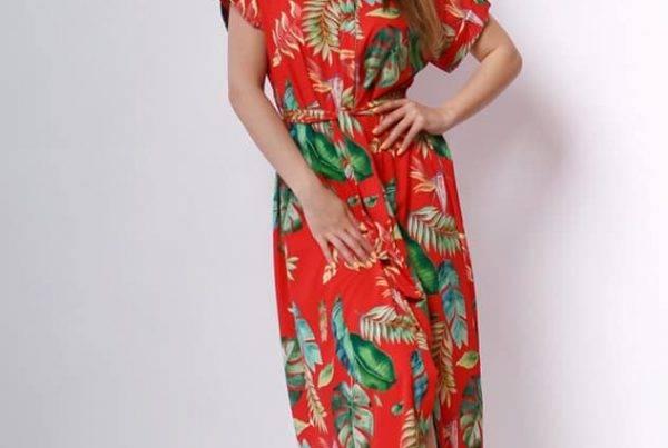 Solo Collection piros nyári trendi ruha
