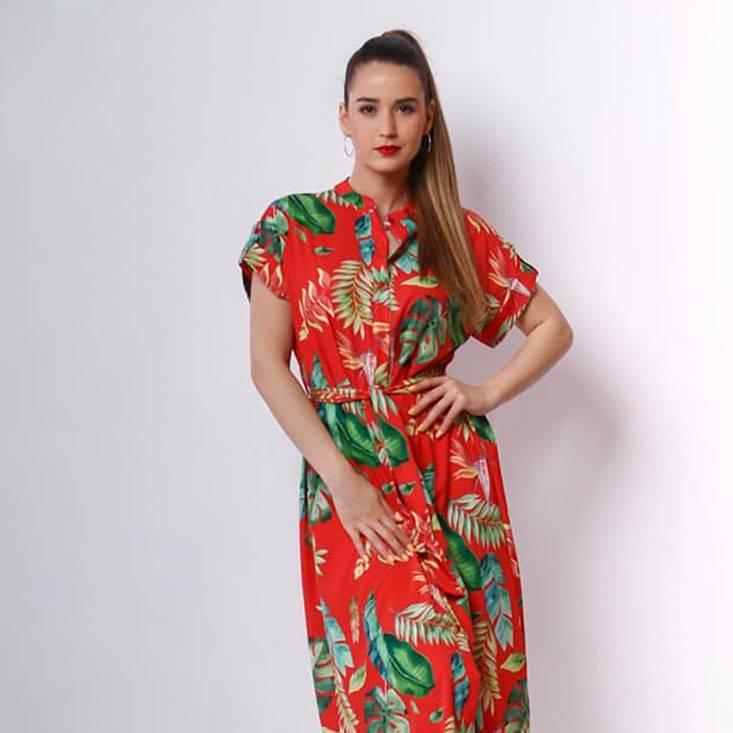 Solo Collection piros trendi ruha